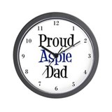 Proud Aspie Dad Wall Clock