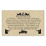 The Veteran Sticker (Rectangle 10 pk)