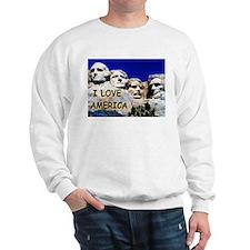 Mt. Rushmore I Love America Sweatshirt