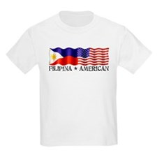 Fil Am Flag - Kids T-Shirt
