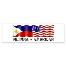 Fil Am Flag - Bumper Bumper Sticker
