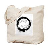 Love is a verb. Tote Bag