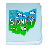 Sidney, Ohio. Kid Themed baby blanket