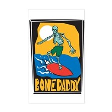 Bone Daddy Surfer Rectangle Decal