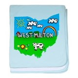 West Milton, Ohio. Kid Themed baby blanket