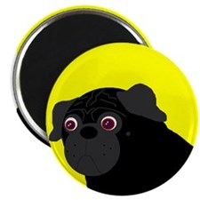 "Yellow Pug 2.25"" Magnet (100 pack)"