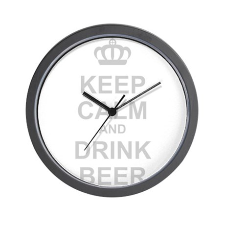 Keep Calm and Drink Beer Wall Clock