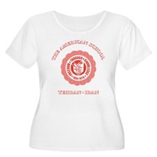 Red TAS Logo on Women's Plus size shirt