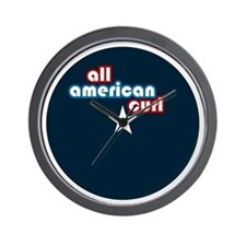 All American Curl Wall Clock