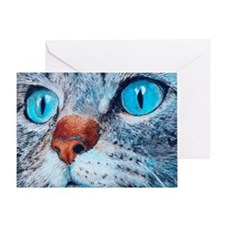 Blue-eyed Cat Greeting Card