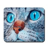 Blue-eyed Cat Mousepad