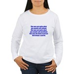 keeps parrot text only Women's Long Sleeve T-Shirt