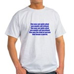 keeps parrot text only Light T-Shirt