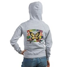 Autism Awareness Butterfly Zip Hoodie