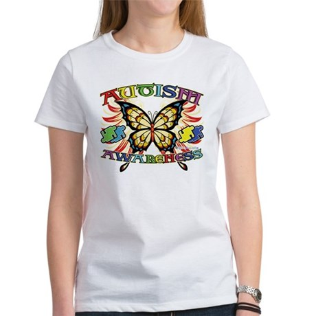 Autism Awareness Butterfly Women's T-Shirt