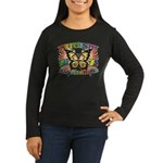 Autism Awareness Butterfly Women's Long Sleeve Dar