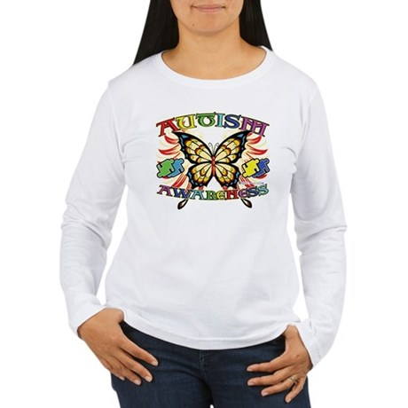 Autism Awareness Butterfly Women's Long Sleeve T-S