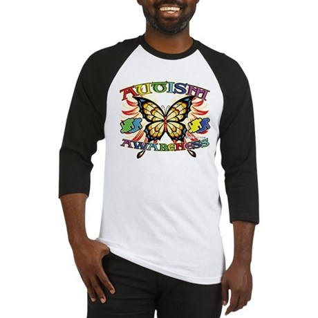 Autism Awareness Butterfly Baseball Jersey