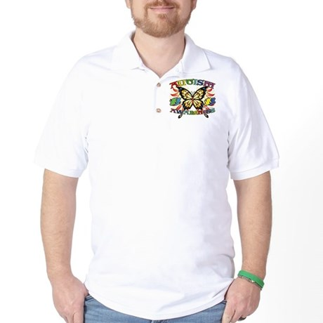 Autism Awareness Butterfly Golf Shirt