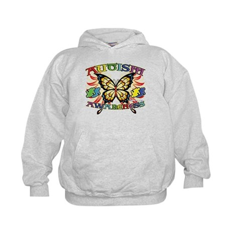 Autism Awareness Butterfly Kids Hoodie