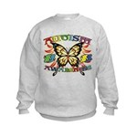 Autism Awareness Butterfly Kids Sweatshirt