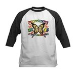 Autism Awareness Butterfly Kids Baseball Jersey