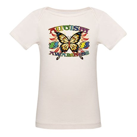 Autism Awareness Butterfly Organic Baby T-Shirt