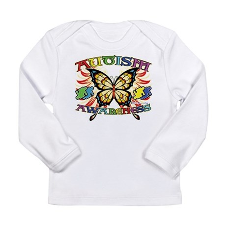 Autism Awareness Butterfly Long Sleeve Infant T-Sh