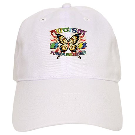 Autism Awareness Butterfly Cap