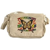 Autism Awareness Butterfly Messenger Bag