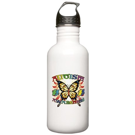 Autism Awareness Butterfly Stainless Water Bottle