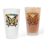 Autism Awareness Butterfly Drinking Glass