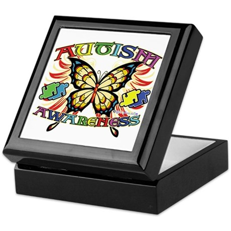 Autism Awareness Butterfly Keepsake Box