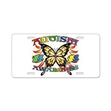 Autism Awareness Butterfly Aluminum License Plate