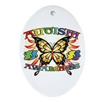 Autism Awareness Butterfly Ornament (Oval)