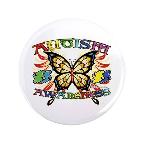 "Autism Awareness Butterfly 3.5"" Button (100 pack)"