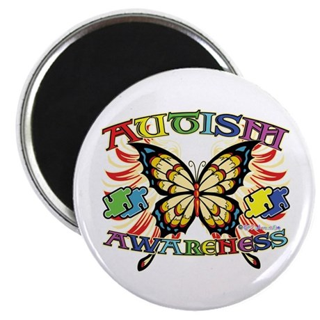 "Autism Awareness Butterfly 2.25"" Magnet (100 pack)"