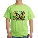 Autism Awareness Butterfly Green T-Shirt