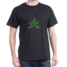 Marijuana Leaf Black T-Shirt