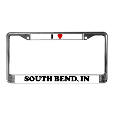 I Love South Bend License Plate Frame