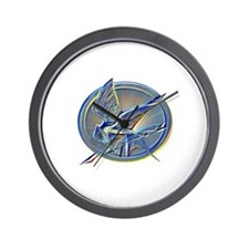 Silver Mockingjay Wall Clock