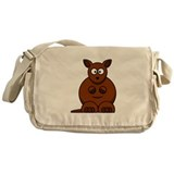 Cartoon Kangaroo Messenger Bag