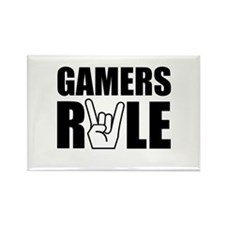 Gamers Rule Rectangle Magnet (100 pack)