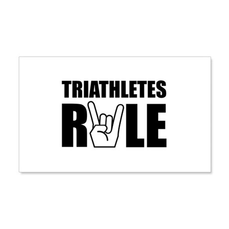 Triathletes Rule 22x14 Wall Peel