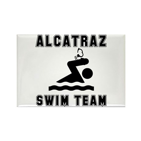 Alcatraz Swim Team Rectangle Magnet (100 pack)