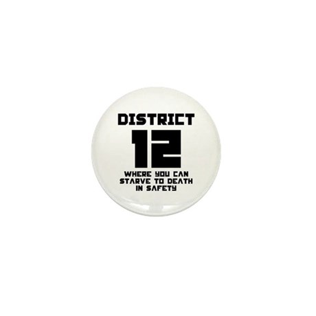 Hunger Games District 12 Starving Mini Button (100