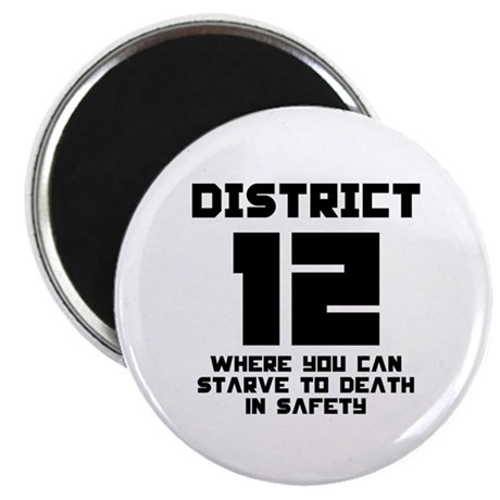 "Hunger Games District 12 Starving 2.25"" Magnet (10"