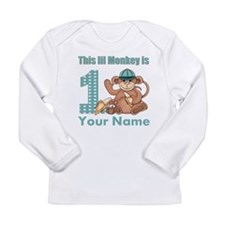 First Birthday Monkey Long Sleeve Infant T-Shirt