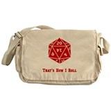 20 Sided Roll Messenger Bag