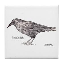 American Crow Tile Coaster